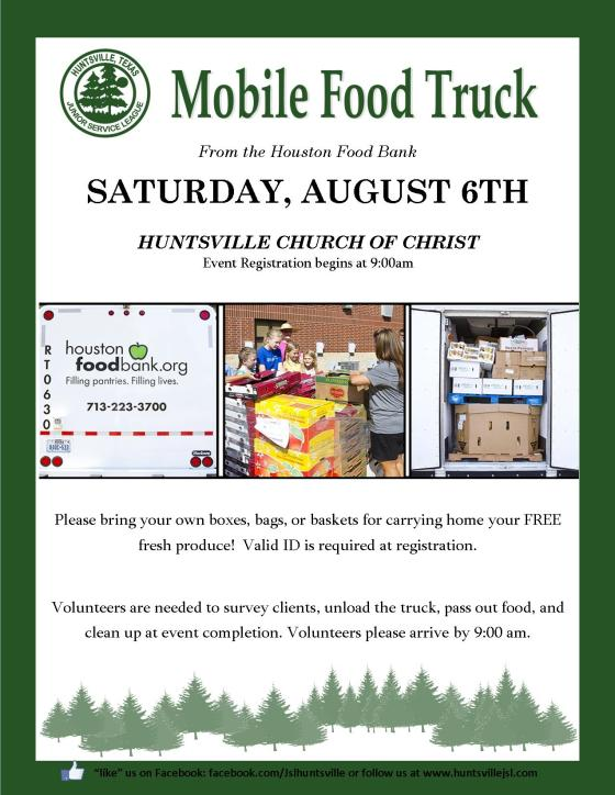 August 6 Food Truck Flyer