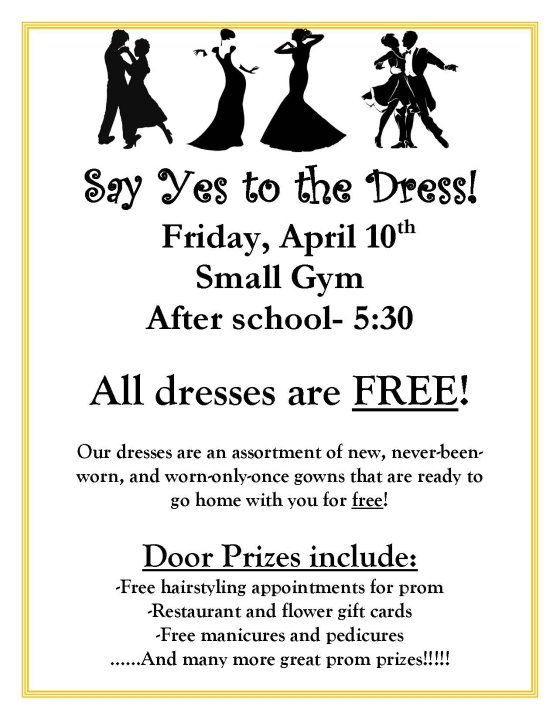 Say Yes to the Dress Flyer JPEG