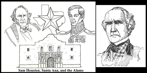 sam houston coloring pages 2